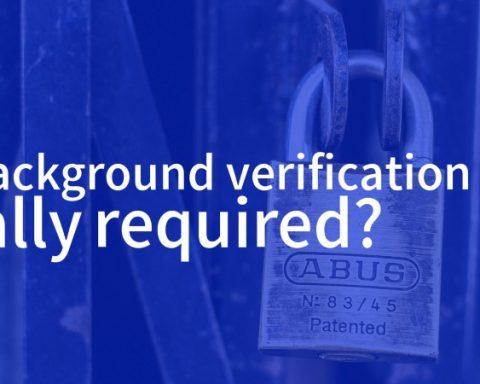 Background verification