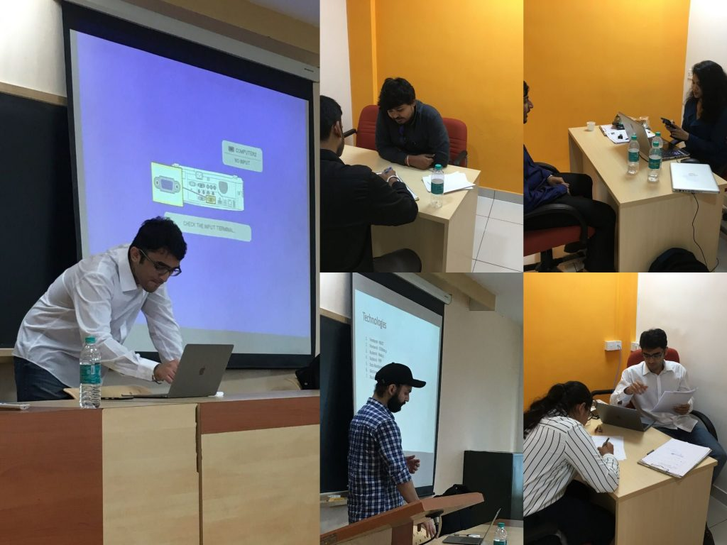Team Springworks hard at work at different stages of the internship interview process at MT, Manipal