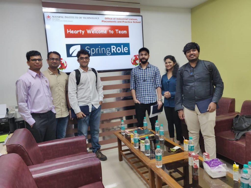 Team Springworks visited Manipal Institute of Technology in October, 2019 to hire interns