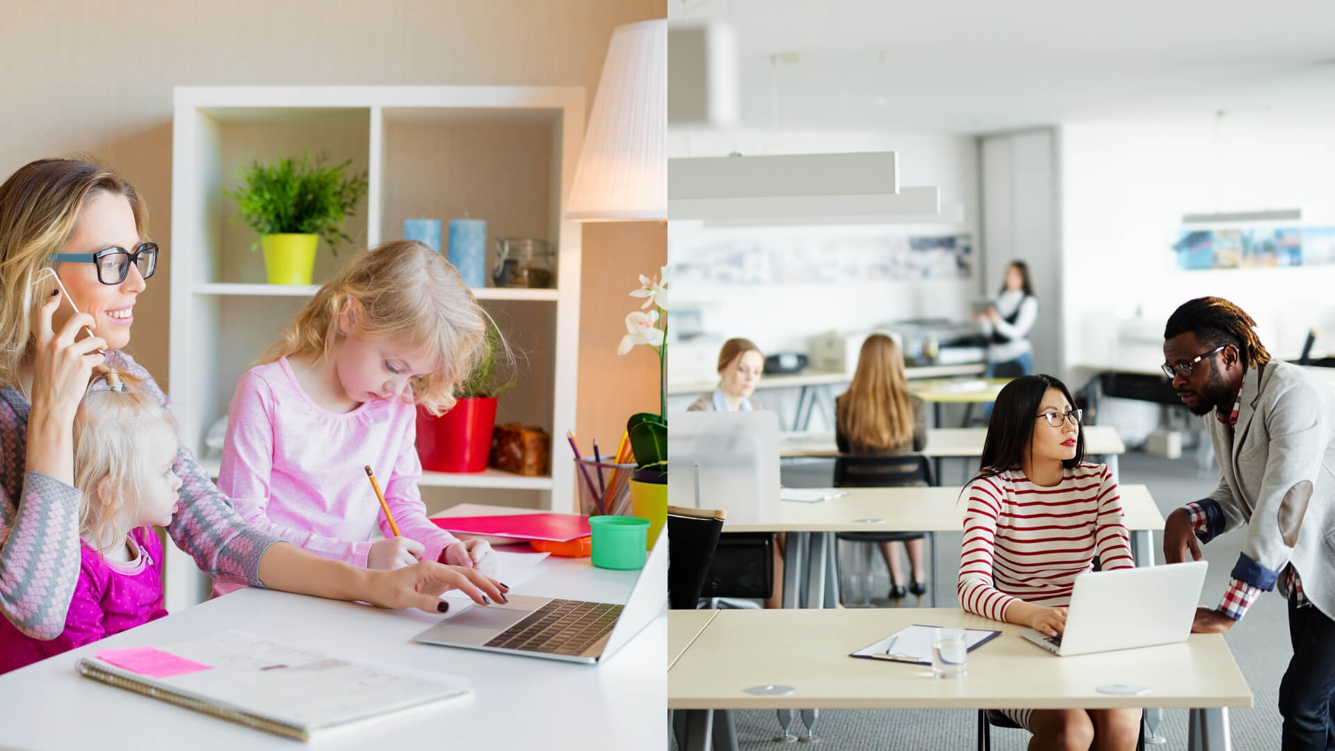 work from home v/s work of office