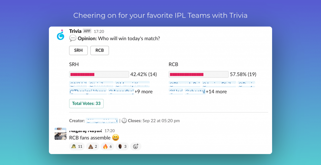 Cheering on for your favorite IPL Teams with Trivia