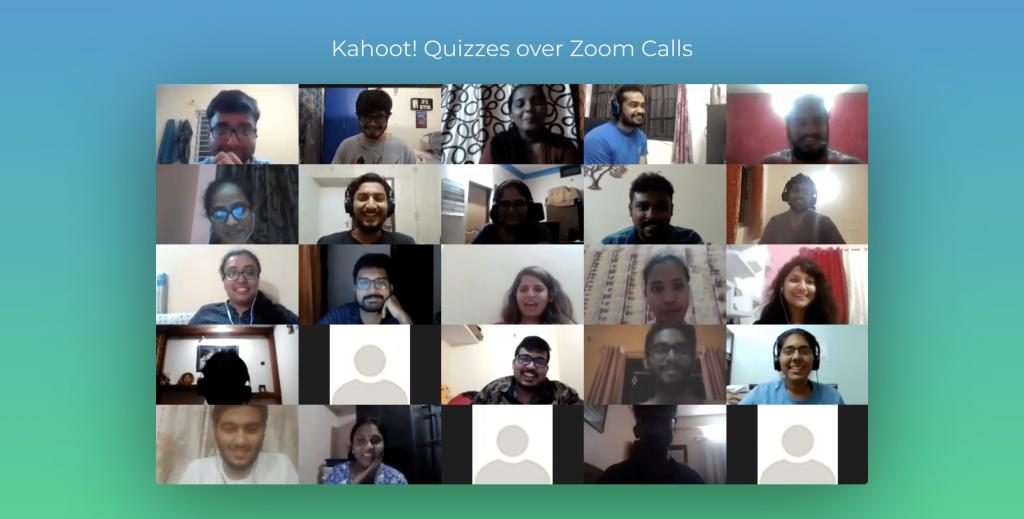 Kahoot! Quizzes over Zoom Calls