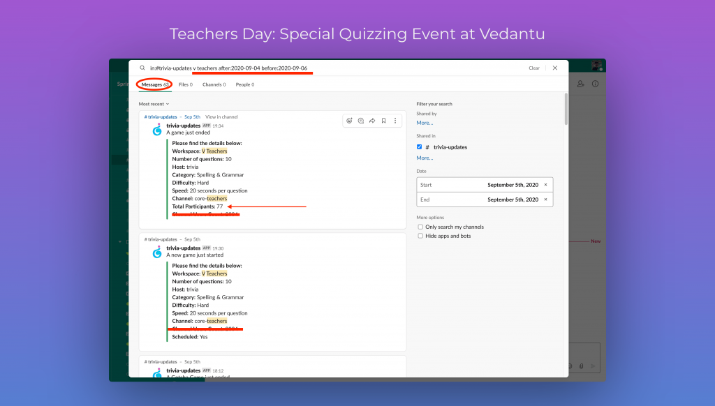 Teachers Day - Special Quizzing Event at Vedantu