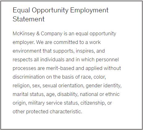 McKinsey EEO statement