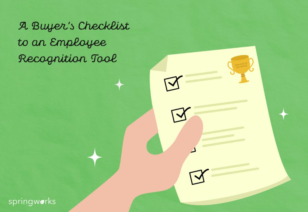 A Buyer's Checklist to an Employee Recognition Tool
